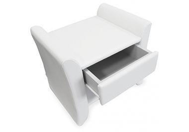 nachttisch leder g nstige nachttische leder bei livingo. Black Bedroom Furniture Sets. Home Design Ideas