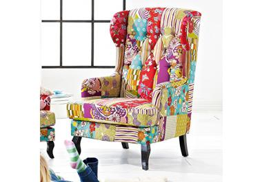 patchwork sessel g nstige patchwork sessel bei livingo. Black Bedroom Furniture Sets. Home Design Ideas
